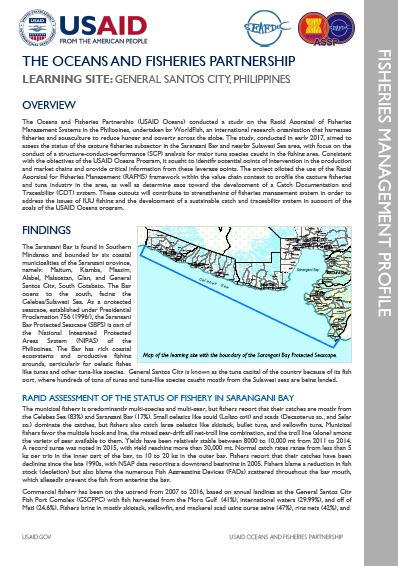 Philippines Fisheries Management Profile Summary The Oceans And Fisheries Partnership